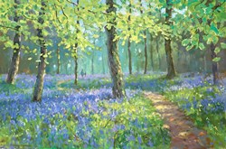 Bluebell Stroll by James Preston - Original Painting on Stretched Canvas sized 30x20 inches. Available from Whitewall Galleries